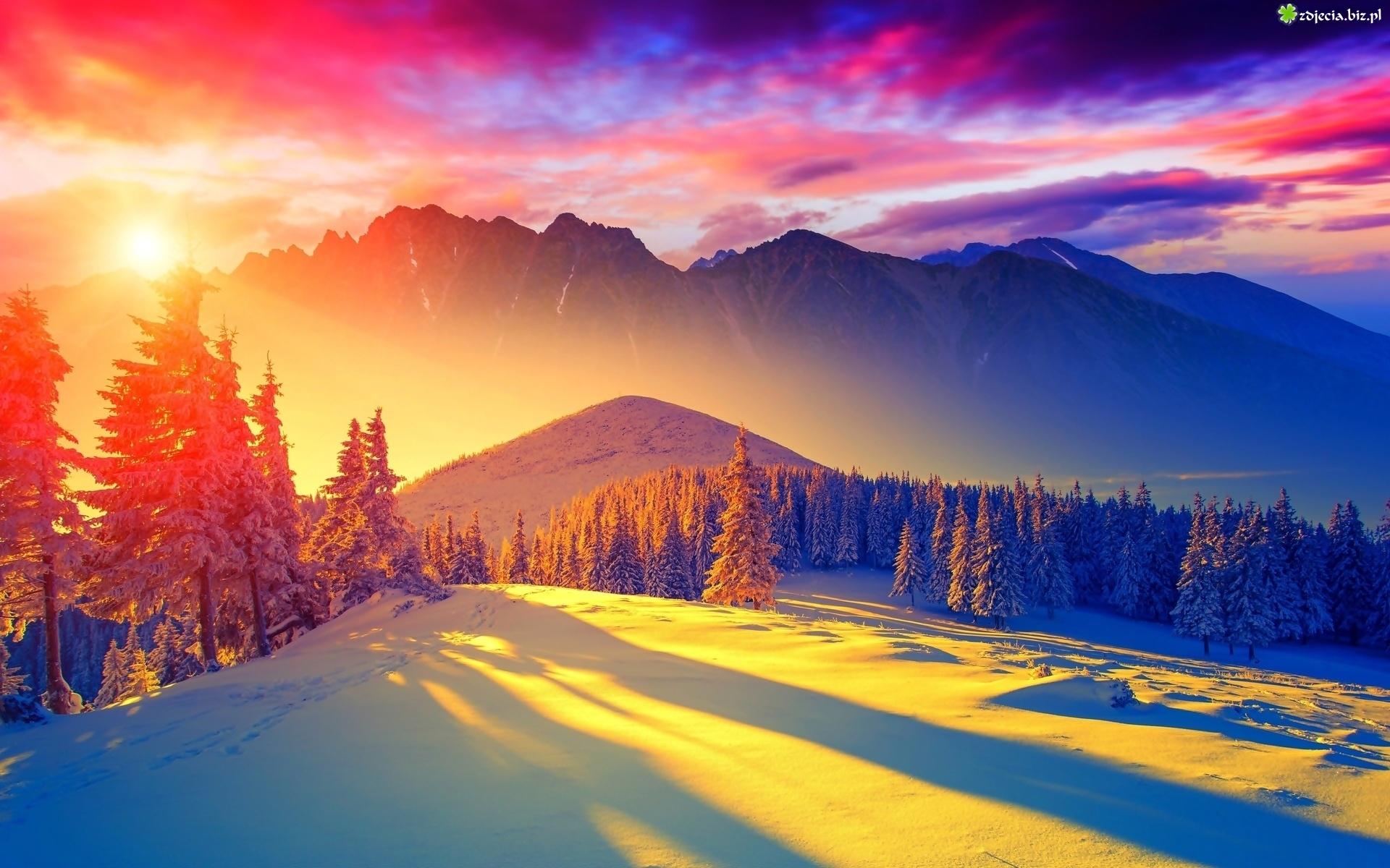 Zdjęcie Zima Śnieg G 243 Ry Promienie Blask Zach 243 D Słońca