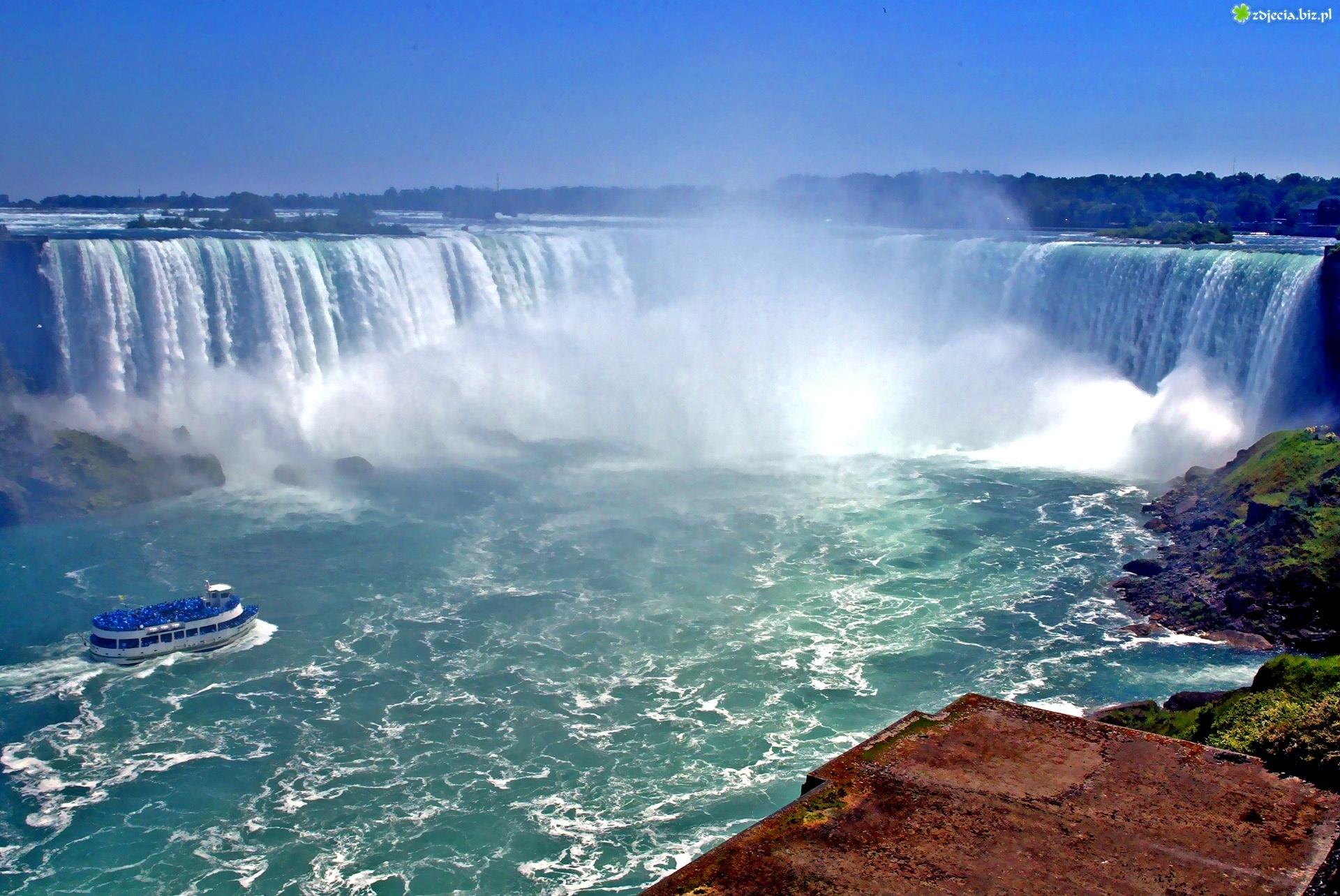 Zdjęcie, Wodospad, Niagara, Wycieczki, Wzburzona, Woda