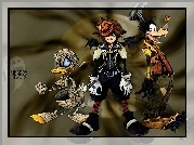 Kingdom Hearts, posta�, donald, duck, goofy, halloween
