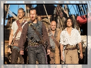 Serial, Black Sails, Piraci, Toby Stephens, Kapitan Flint, Luke Arnold, Długi John Silver, Tom Hopper, Billy Bones