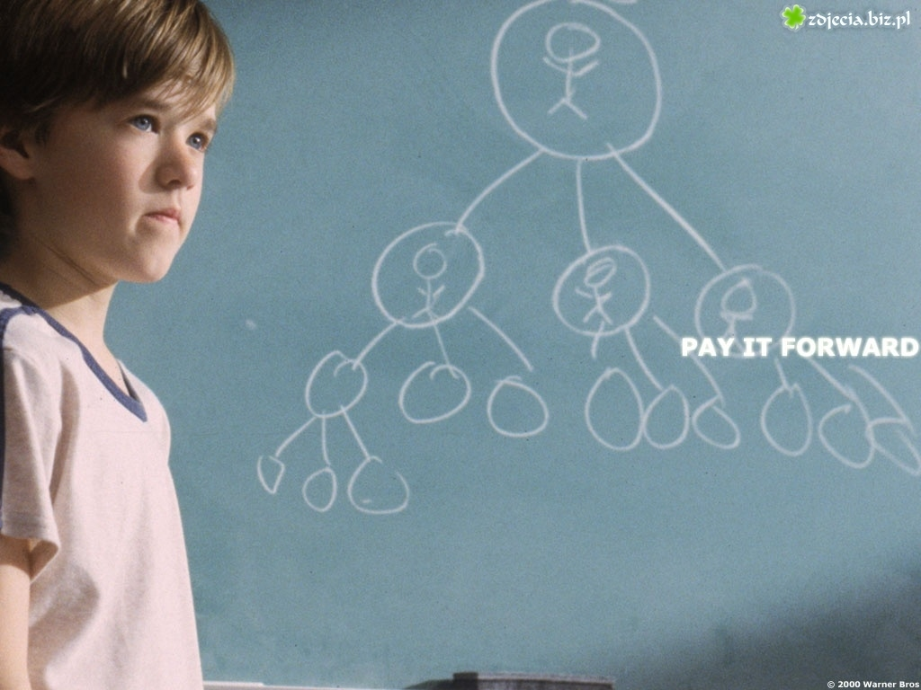 Pay It Forward, Haley Joel Osment, tablica, graf