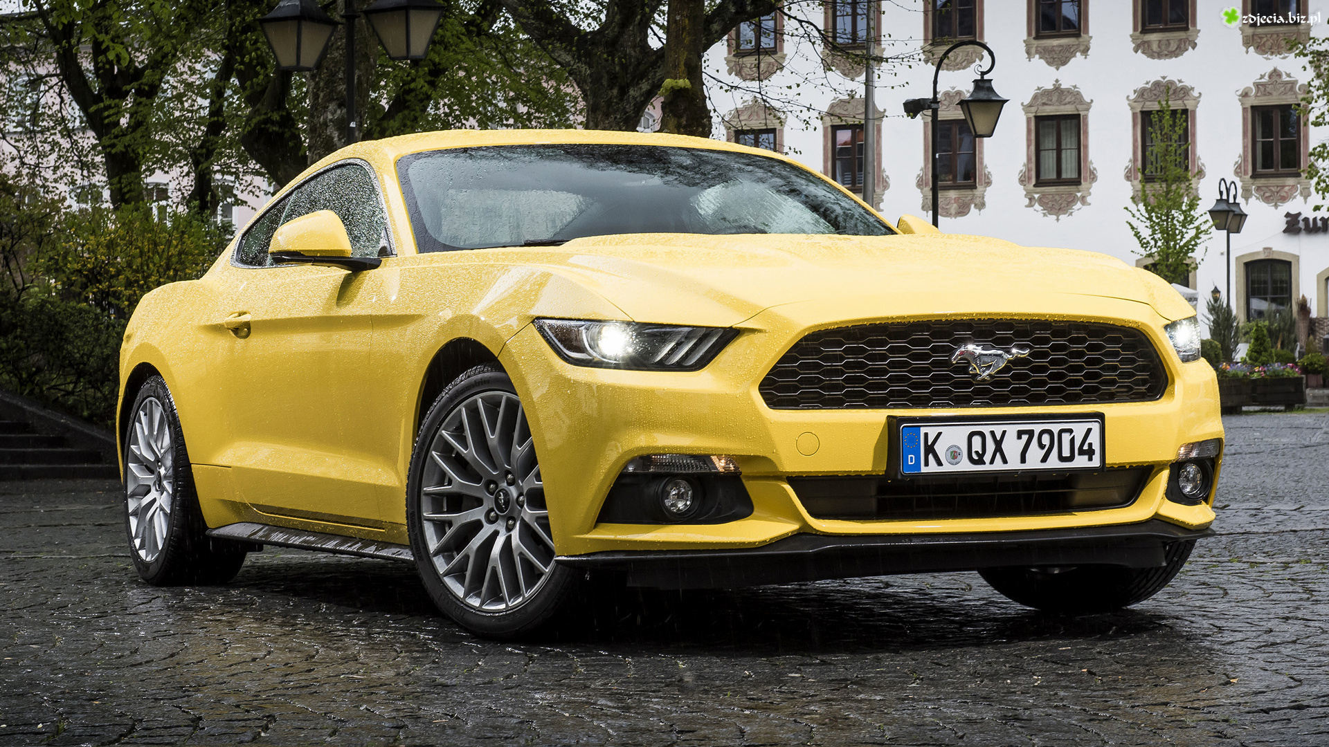Żółty, Ford Mustang, Coupe