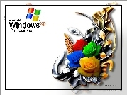 Windows, XP, Wiązanka, Róż