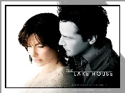 The Lake House, Keanu Reeves, Sandra Bullock, plakat, przytuleni