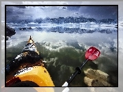 Kajak, Paddling, Mono, Lake, Kalifornia, USA