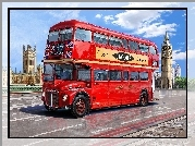 Autobus, Most, Big Ben, Londyn