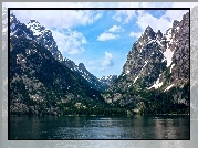 Jenny Lake, Moose, Wyoming, Park, Jezioro, Góry, USA