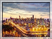 Most, Queensboro, Nowy Jork, Panorama
