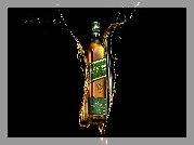 Whisky Johnnie Walker Green Label, Czarne tło